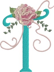 Harrington Rose T embroidery design