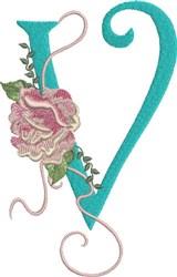 Harrington Rose V embroidery design