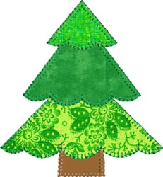 Patchwork Christmas Tree  embroidery design