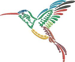 Multi-color Hummingbird 1 embroidery design