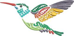 Multi-color Hummingbird 5 embroidery design