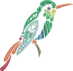 Multi-color Hummingbird 8 embroidery design
