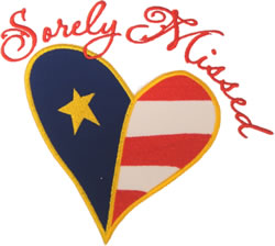 Military Heart Applique embroidery design