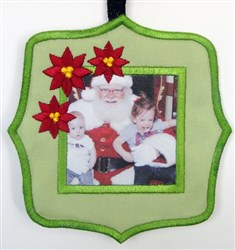 ITH Christmas Fabric Frame 6 embroidery design