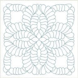 ITH Feathered Filler Quilt Block embroidery design