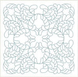 ITH Classic Feathered Quilt Block embroidery design