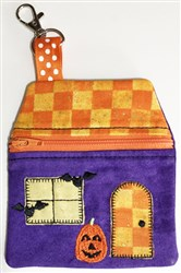 ITH Halloween House Zip Pouch embroidery design