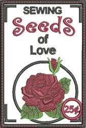 Sewing Seeds of Love embroidery design