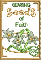 Sewing Seeds of Faith embroidery design