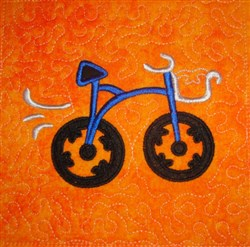 ITH Bicycle Applique Quilt Block embroidery design