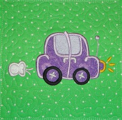 ITH Car Applique Quilt Block embroidery design