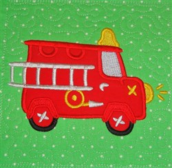 ITH Fire Engine Appliqued Quilt Block embroidery design