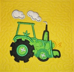 ITH Tractor Quilt Block embroidery design
