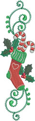 Candycane Stocking embroidery design