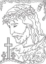 Depiction of Jesus 2 embroidery design