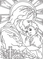 Depiction of Jesus 5 embroidery design