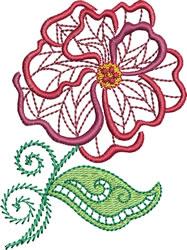 Jacobean Summer Flower embroidery design