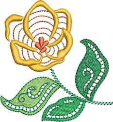 Jacobean Era Flower embroidery design