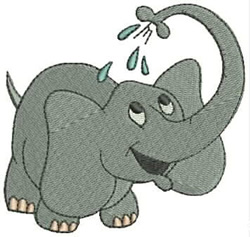 Happy Elephant embroidery design
