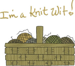 Im a KnitWit embroidery design