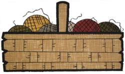 Knitting Basket Applique embroidery design