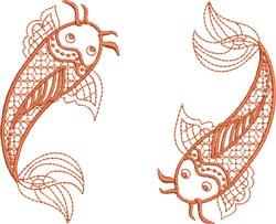Love Koi embroidery design