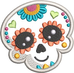 Kids Sugar Skull 2 embroidery design