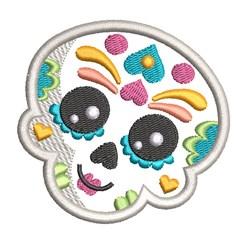 Kids Sugar Skull 4 embroidery design