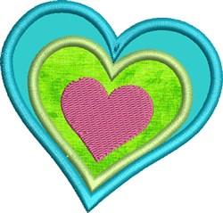 Kids Sugar Skull Coordinating Heart embroidery design
