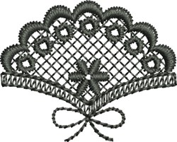 Embroidered Fan Lace Single (Not FSL) embroidery design