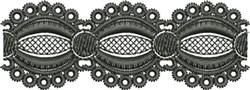 Embroidered Lace Trim (Not FSL) embroidery design