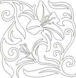 Lily Quilt Design embroidery design
