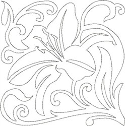 Lily Quilting Design embroidery design