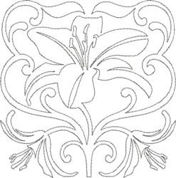 Pretty Lily Design embroidery design