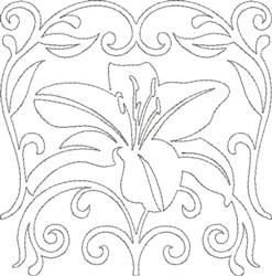 Fanc Quilt Design embroidery design