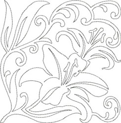 Floral Quilting Design embroidery design
