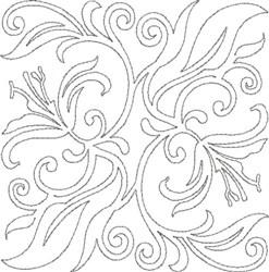 Quilt Design Floral embroidery design