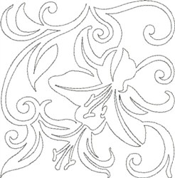 Quilting Outline Embroidery Designs : Lily Quilting Outline Embroidery Designs, Machine Embroidery Designs at EmbroideryDesigns.com