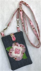 Tombstone Rose Lg Cell Phone Pouch embroidery design