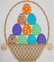 Large Easter Basket embroidery design