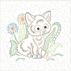Little Fox Quilt Block 1 embroidery design