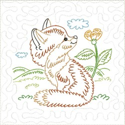 Little Fox Quilt Block 3 embroidery design