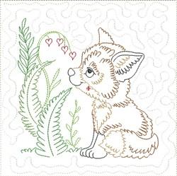 Little Fox Quilt Block 6 embroidery design