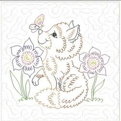 Little Fox Quilt Block 7 embroidery design
