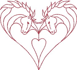Romantic Horses embroidery design