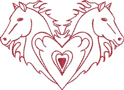 A Passion for Horses embroidery design