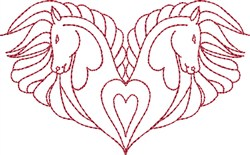 Horses and Hearts embroidery design