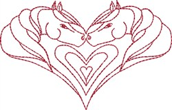 Horses in My Heart embroidery design