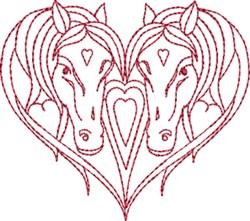 Loving Horses embroidery design