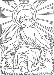 Life of Christ 1 embroidery design